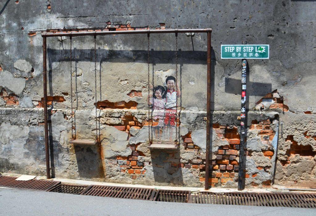 penang street art mural