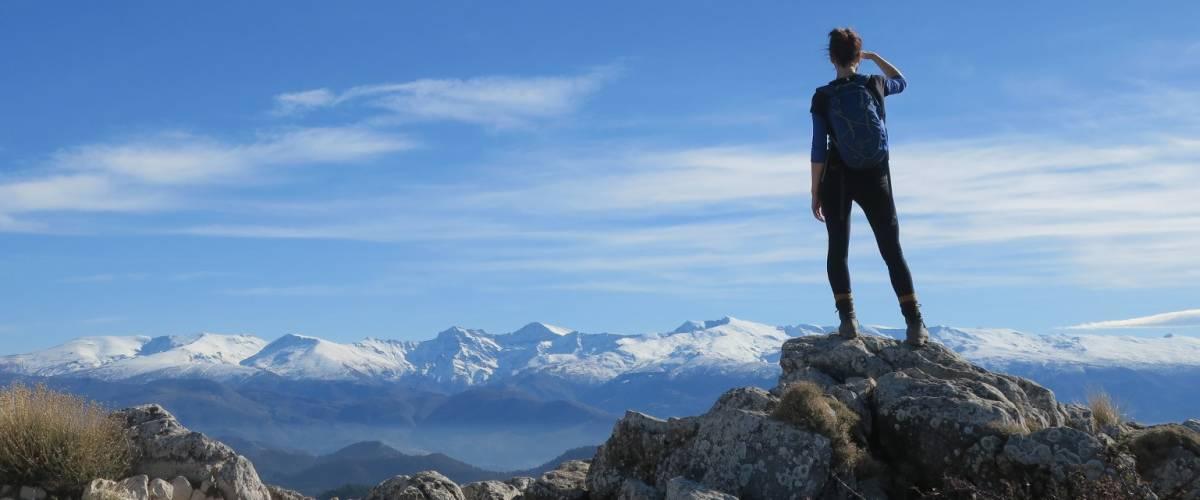 High level mountain trekking and walking