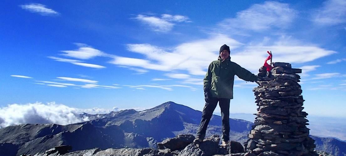 An autumn day on the summit of Alcazaba, finest peak in the Sierra Nevada