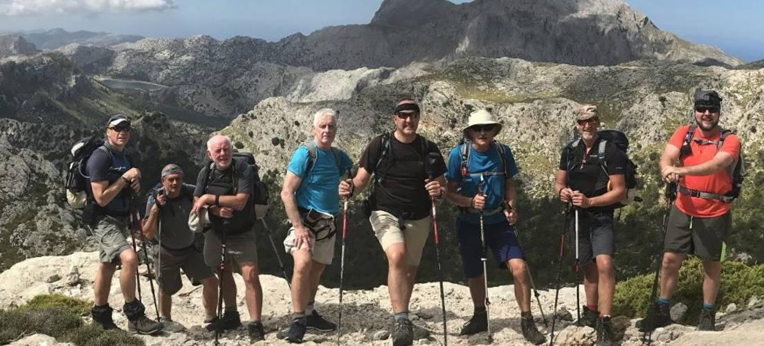Climbing the north ridge of Massenella