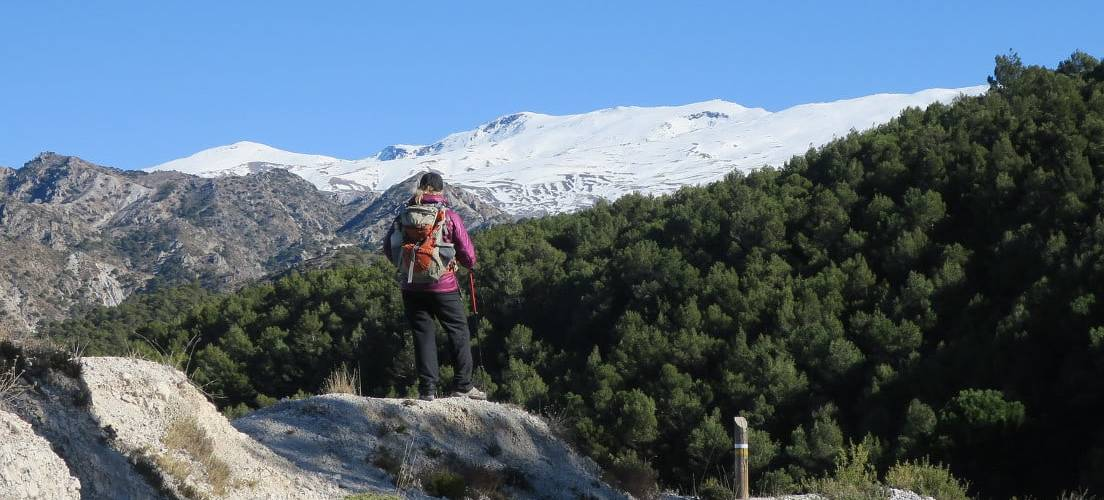 Views from Silleta de Padul towards the Sierra Nevada