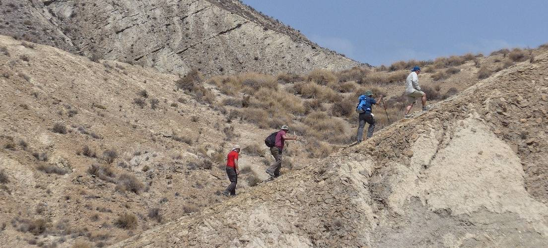 Day hiking tour in Almeria's desert badlands