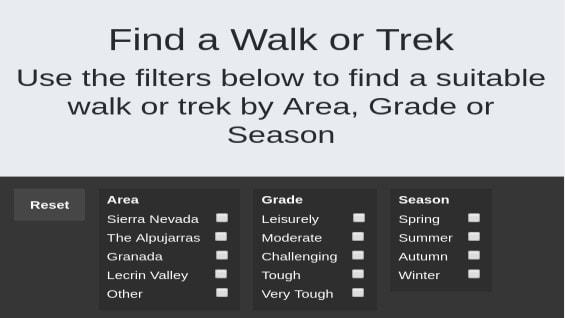 Walk and Trek Finder