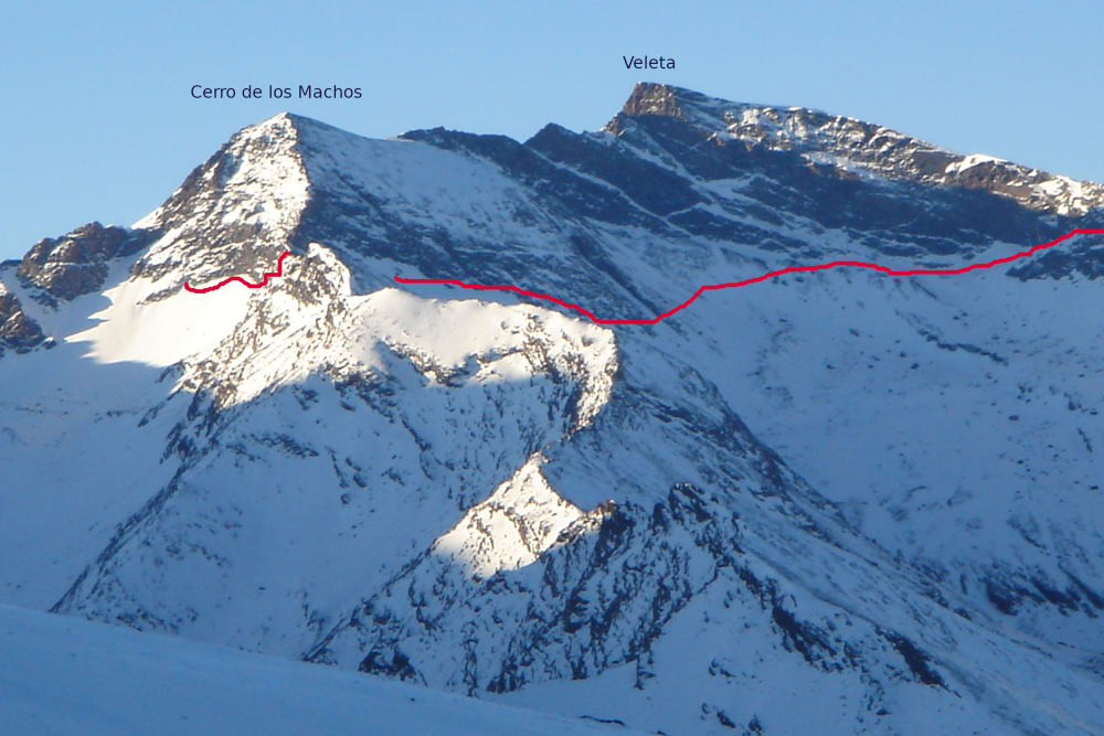 The approach route to the start of the climb