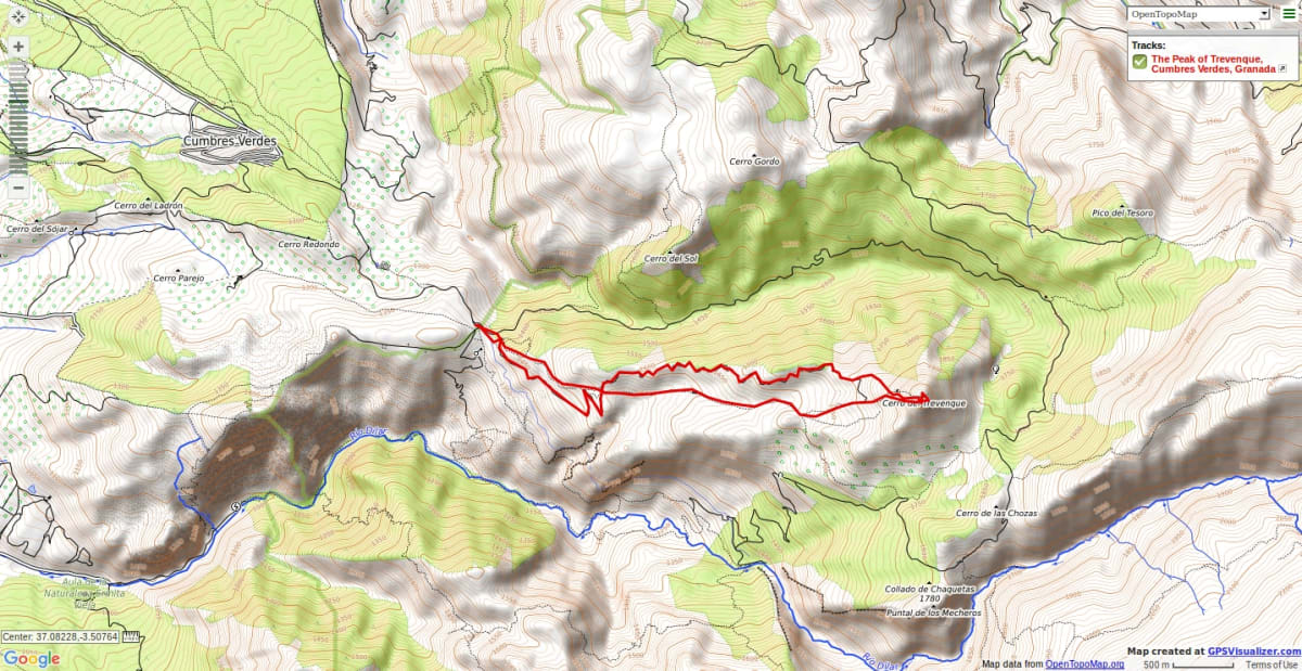 Map of trekking route