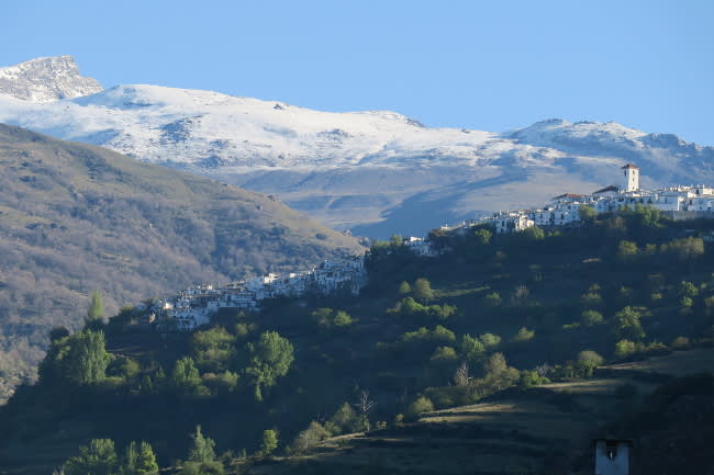 White village walking Las Alpujarras