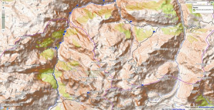 Map of the 5 day Picos de Europa circular