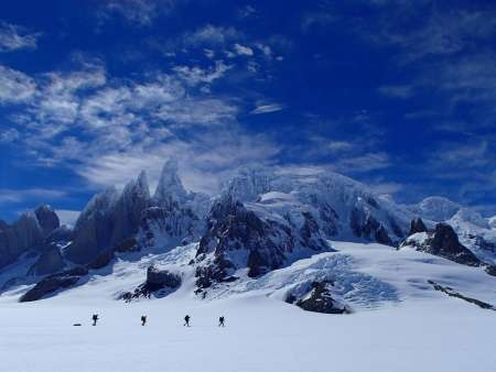 Cerro Torre massif from the west