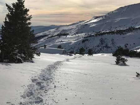 Deep mid winter snows at the Refugio Cebollar
