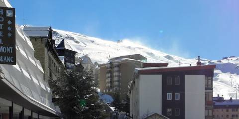 The main ski town at Pradollano