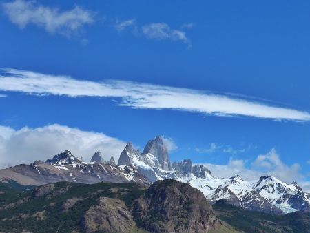 Views of the massifs from above El Chalten
