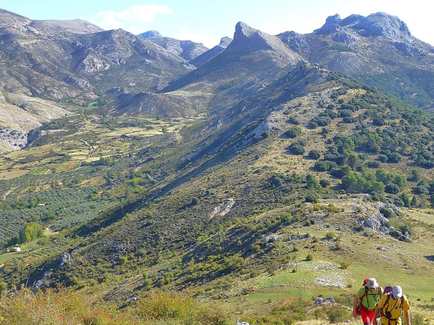 Climbing up to the Peñon de la Mata, Sierra de Huetor