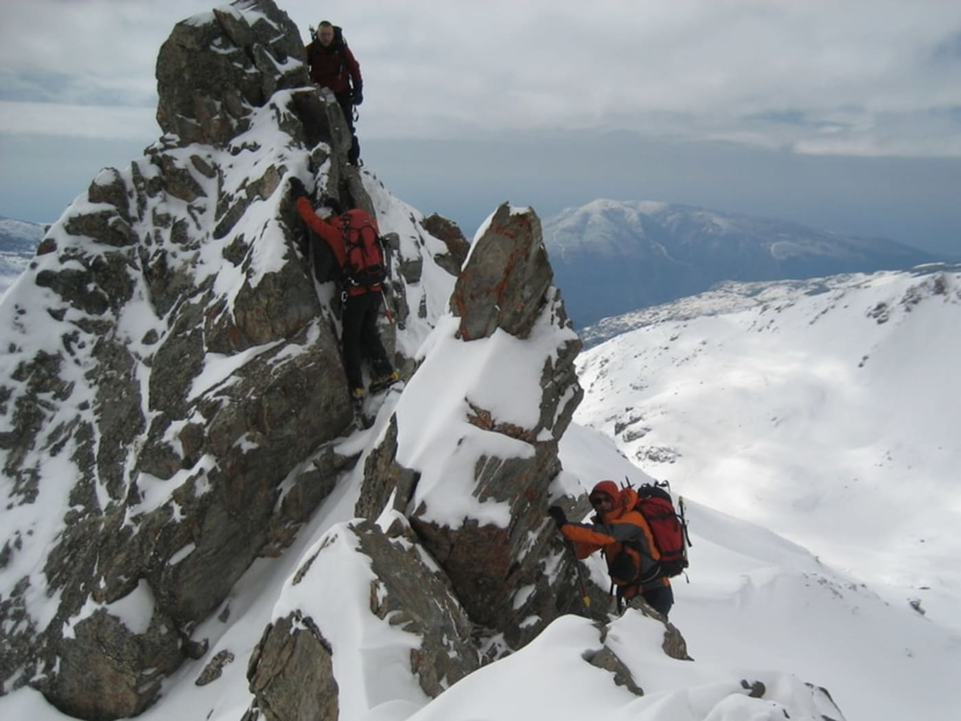 The ridges of the Sierra Nevada are alpine especially in the winter months