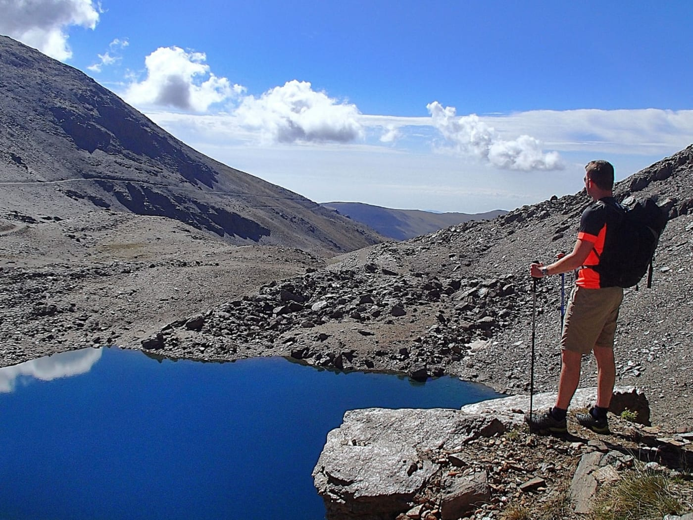 Trekking to the high mountain lakes