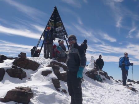 On the Toubkal Summit