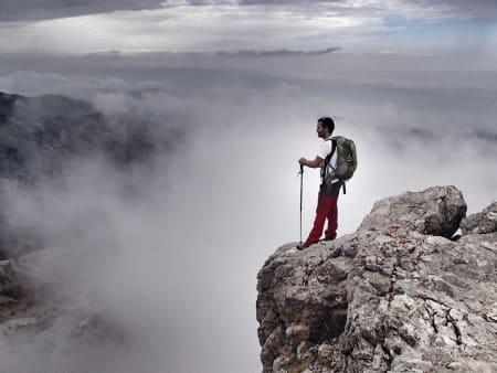 Walking on the fantastic peak of Trevenque
