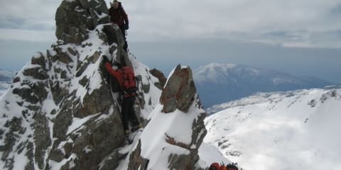 The ridges of the Sierra Nevada are alpine, especially in the winter months
