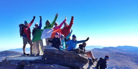 Group ascending Mulhacen, highest in mainland Spain