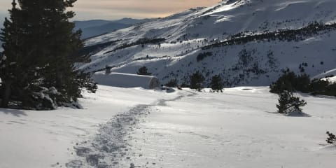 Deep mid winter snows at the Refugio Cebollar