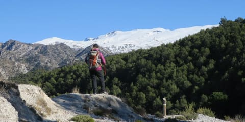 Views from Silleta de Padul towards the Sierra Nevada