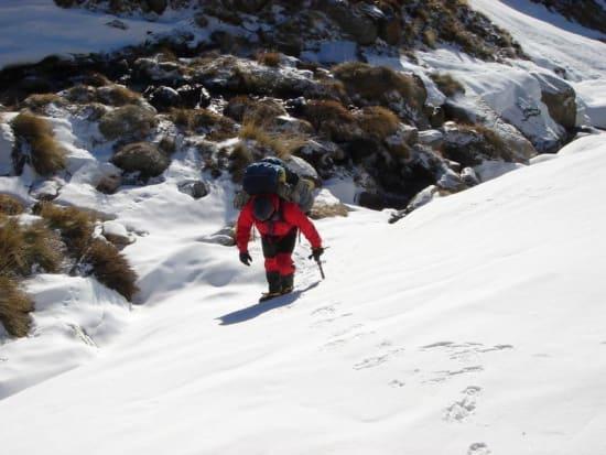 Ascending snow fields