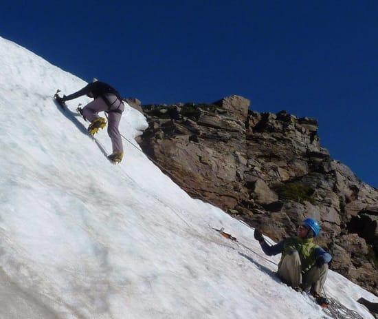 Snow Climbing on the Cerro de Caballo in June