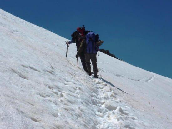 Crossing the Sierra Nevada in full winter conditions in June
