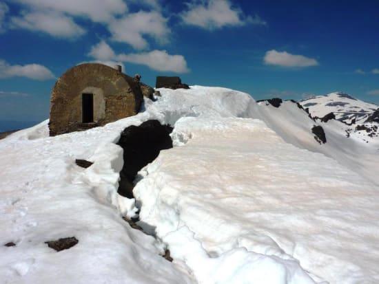 Mountain hut construction in the Rio Lanjaron, Sierra Nevada
