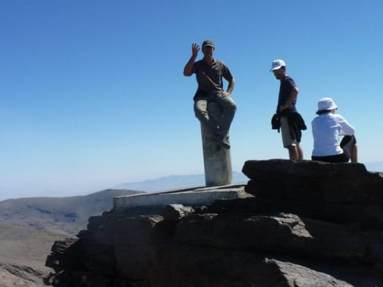 Perched precariously on Mulhacen summit point!