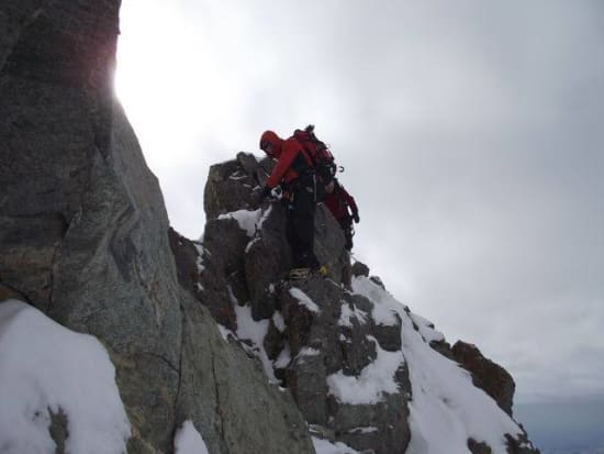 On the ridge crest