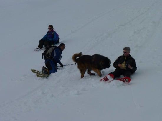 Having fun on the descent