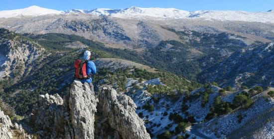 Climbing the peak of Trevenque in the Cumbres Verdes Granada