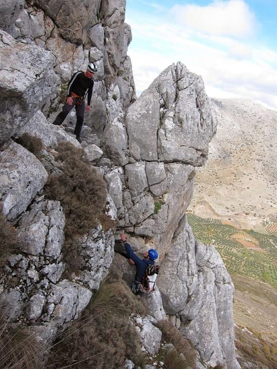 A short but steep chimney with plenty of holds