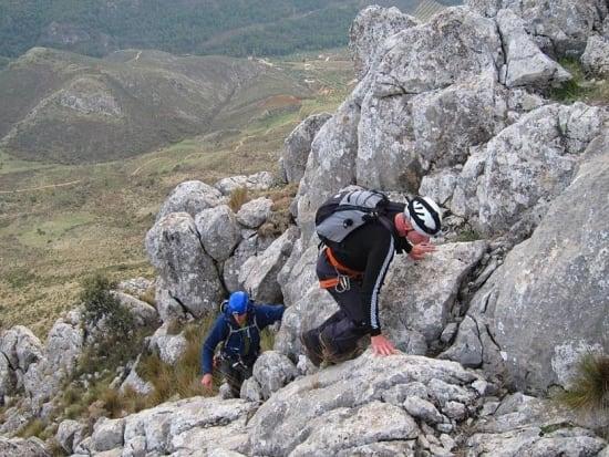Typical scrambling on Penon de la Mata