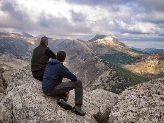 Sat admiring the wonderful views east to the Sierra de Huetor