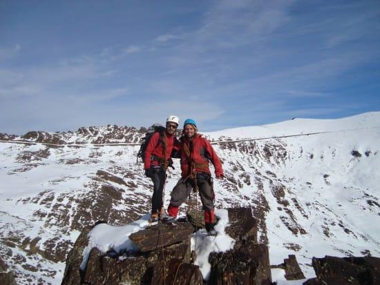 Felipe and Jens on the upper ridge