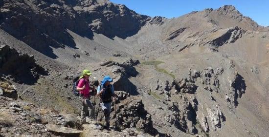 Unusual route up Alcazaba 3rd highest peak, Sierra Nevada