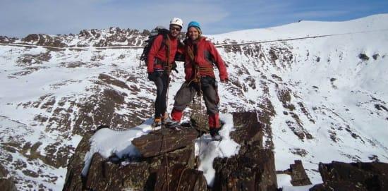 Winter mountaineering on Los Raspones, Sierra Nevada