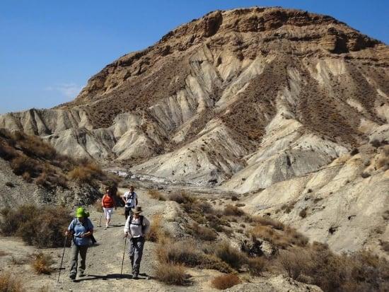 Spectacular desert badlands scenery, Tabernas