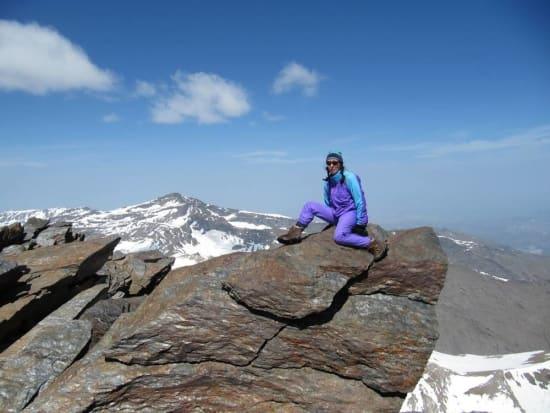 Summit of Mulhacen looking to Veleta