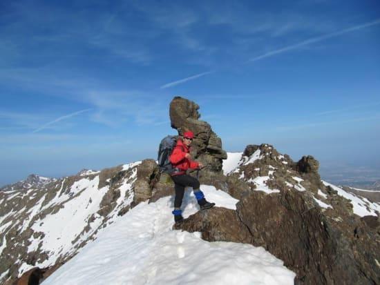 On the Tajos de la Virgen Ridge