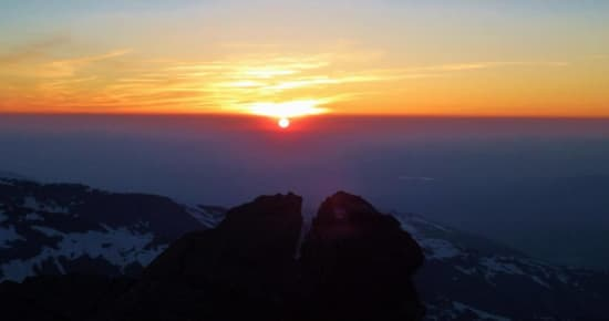 Sunrise from the highest mountain in Spain