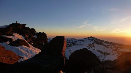 Sunset from Mulhacen