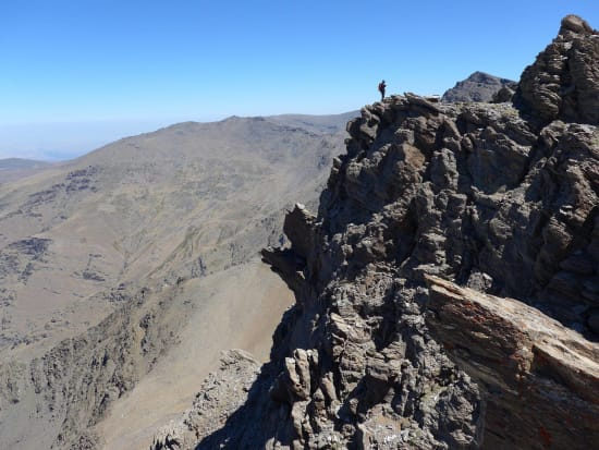Sierra Nevada Scrambling - the ridge of Puntal de la Caldera