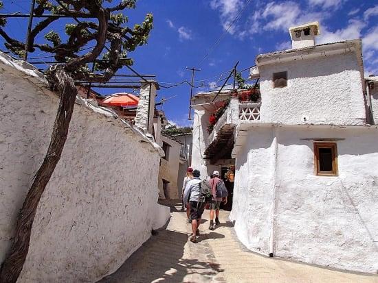 Walking through the white villages of La Taha de Pitres, Alpujarras