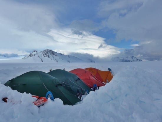 Icefield camp near Paso Marconi