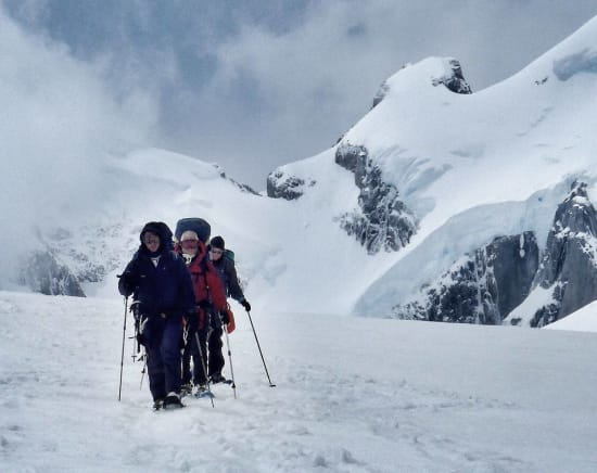 Coming off the Viedma Glacier