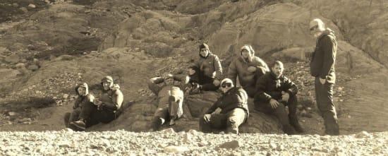 The gang at la Playita, Lago Toro