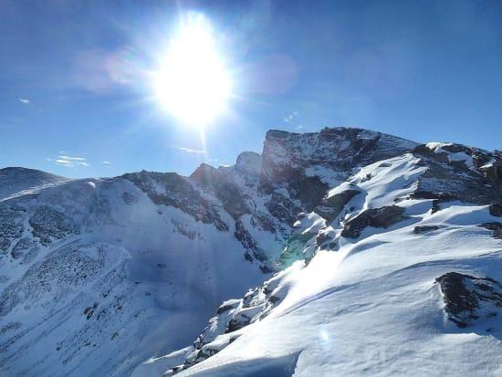 Veleta with the Canuto left of summit