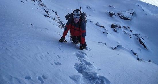 Climbing the Canuto Norte del Veleta, Sierra Nevada